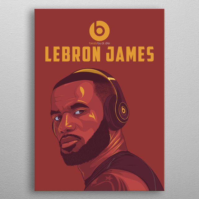 Lebron James Vexel Arts metal poster