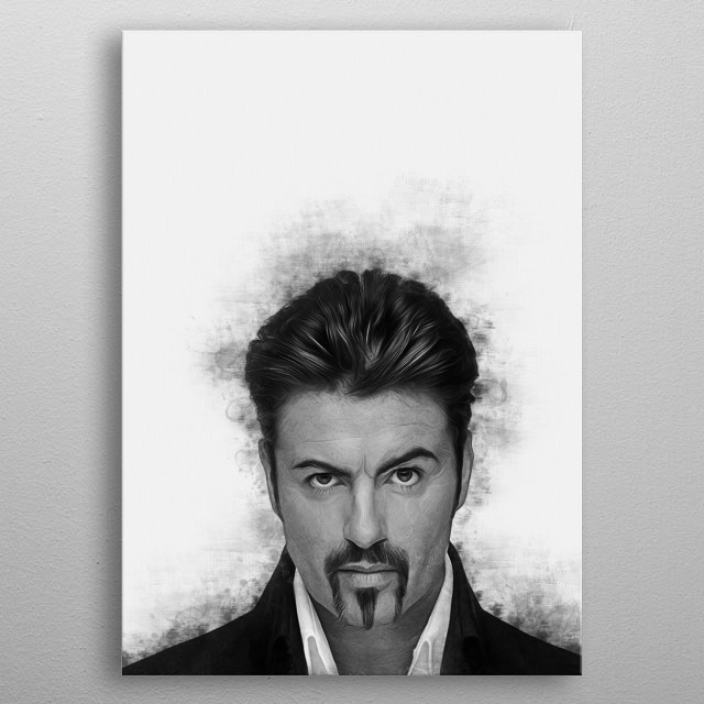 George Michael was an English singer, songwriter, record producer, and philanthropist who rose to fame as a member of the music duo Wham! an metal poster