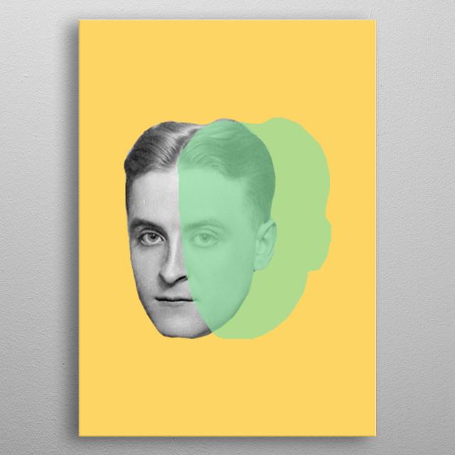 F Scott Fitzgerald metal poster