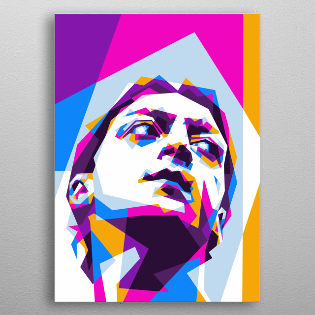 Mesut Özil is a German soccer player who plays for English Premier League clubs metal poster