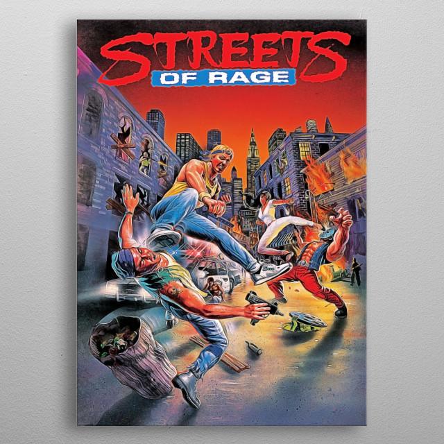 Rerto Sega Genesis Masterpiece Streets of Rage Poster metal poster