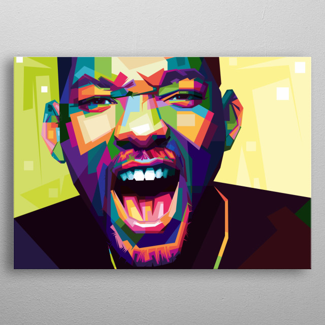 Will Smith with WPAP (Wedha's Pop Art Potrait) style. metal poster