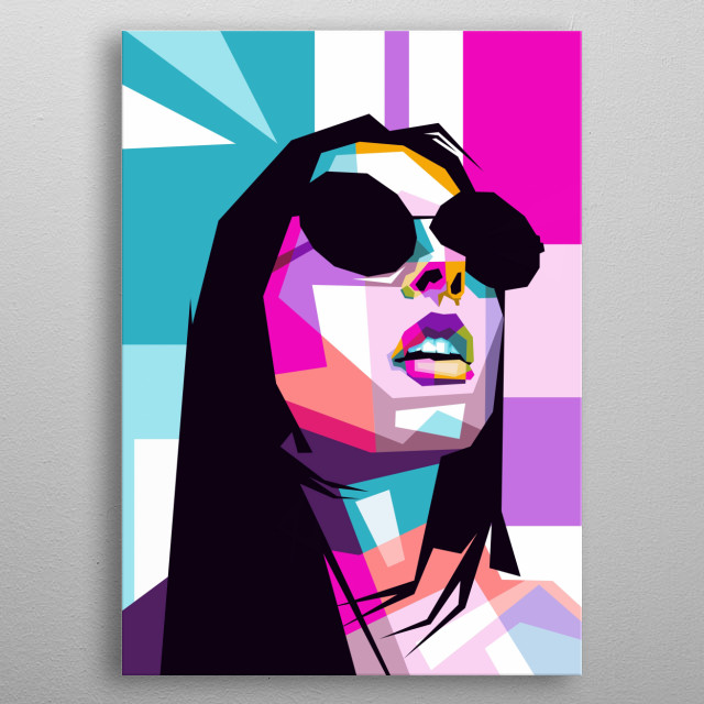 Dua Lipa is an English singer and songwriter, his musical career began at the age of 14. metal poster
