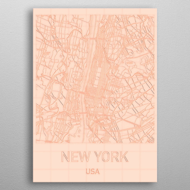 New York City, USA by Helge Art | metal posters - Displate