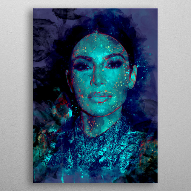 Kim Kardashian metal poster