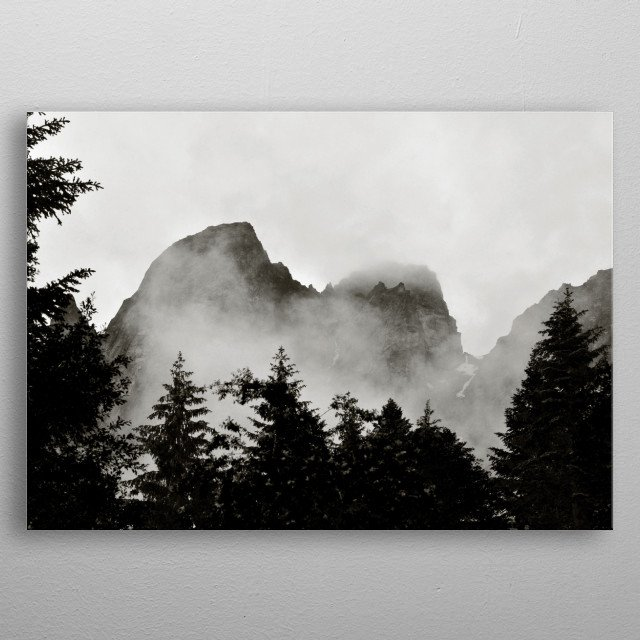 An abstract view of the Rila mountain in Bulgaria metal poster