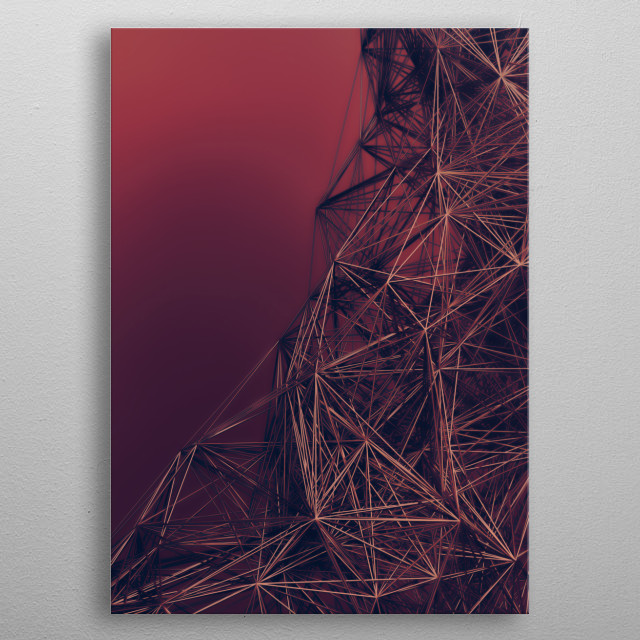 Interconnected metal web cascading down. Art created in Cinema4D, rendered in Corona and enhanced in Photoshop, I hope you like it :) metal poster