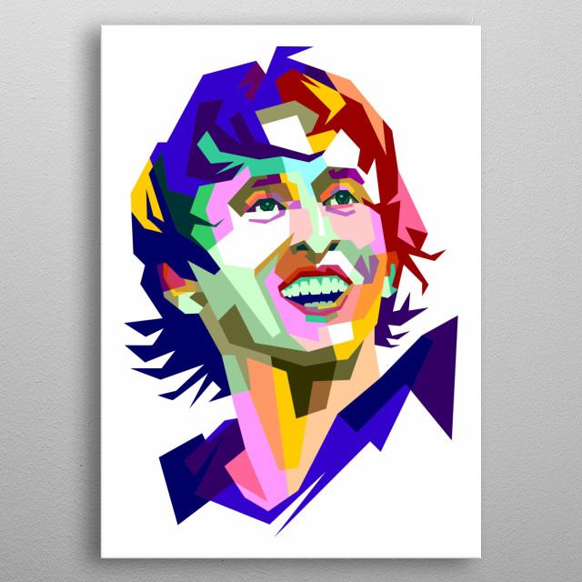 Luka Modric Colorful Design Illustration. Wpap Style metal poster