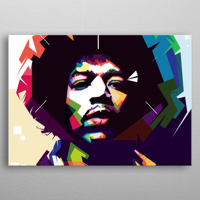 Jimmi Hendrik with WPAP style. metal poster