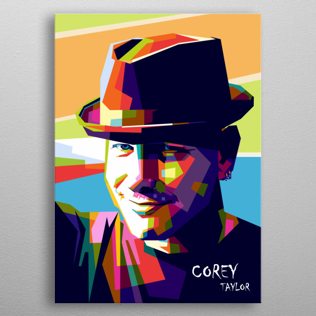Corey taylor is american musisian, singer in wpap popart style metal poster