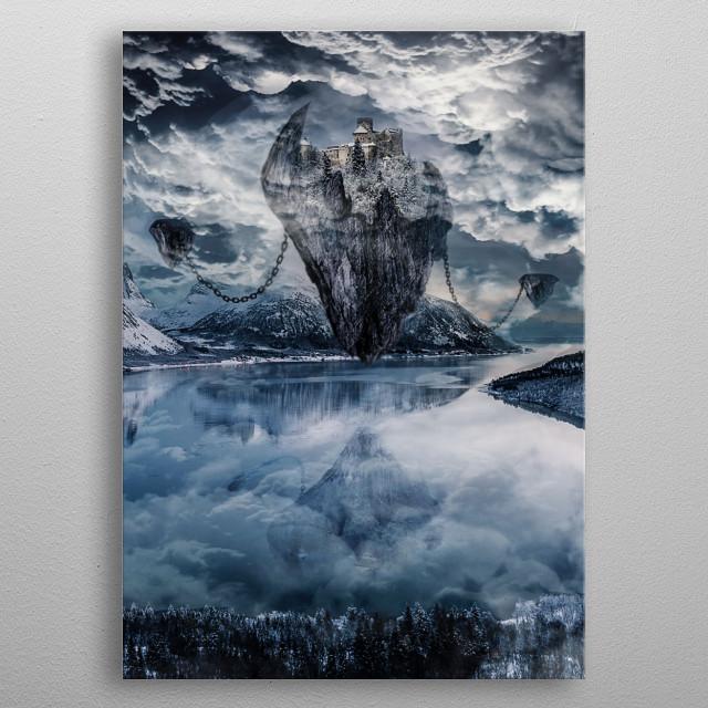 Fantasy Castle in  you like it) metal poster