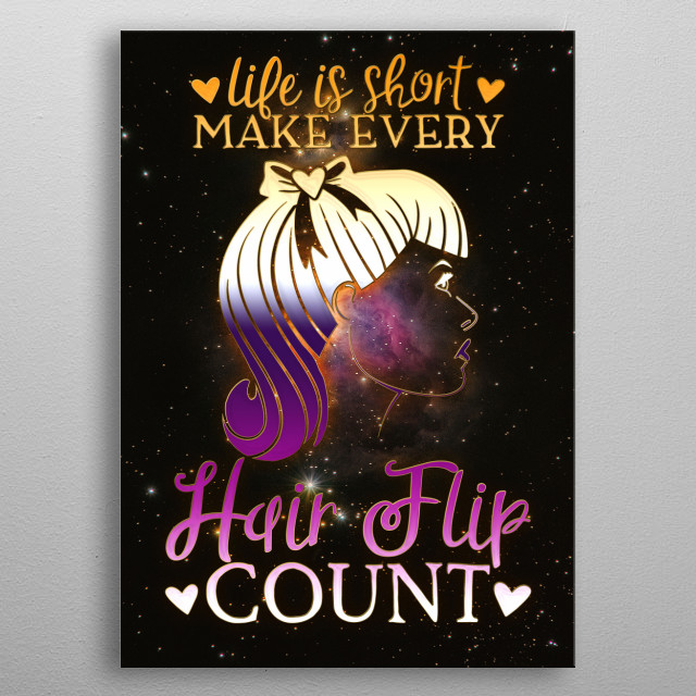Life Is Short Hair Quote Text Art Poster Print Metal