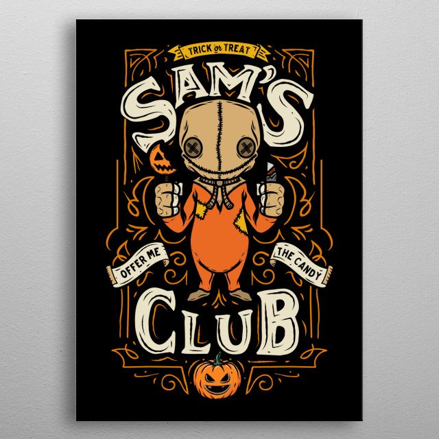 Collaboration with Famousafterdeath on a funny Sam art metal poster