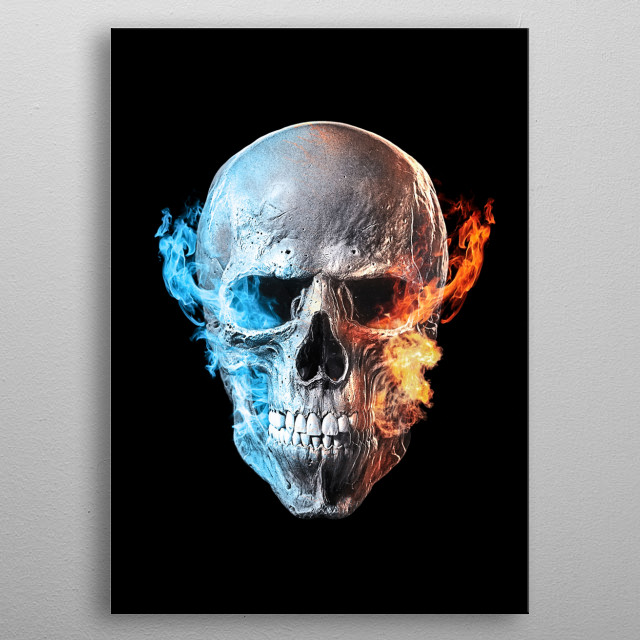 Ghost rider Skull From movie and  art in photoshop. Hope you like it) metal poster