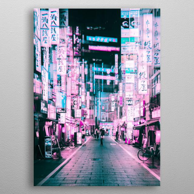 Tokyo Nights and Cyberpunk Lights  metal poster