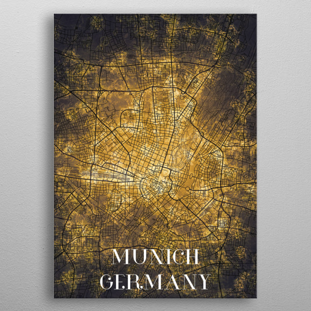 Munich Germany metal poster