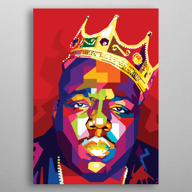 Christopher George Latore Wallace. The greatest rappers of all time metal poster