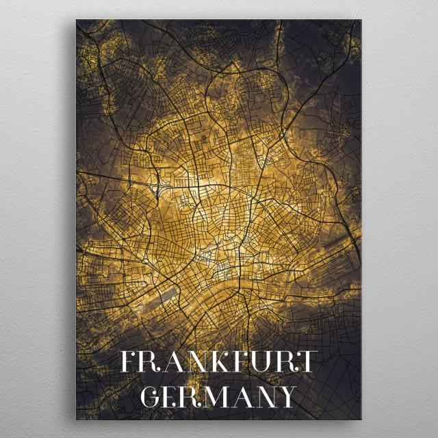 Frankfurt Germany metal poster
