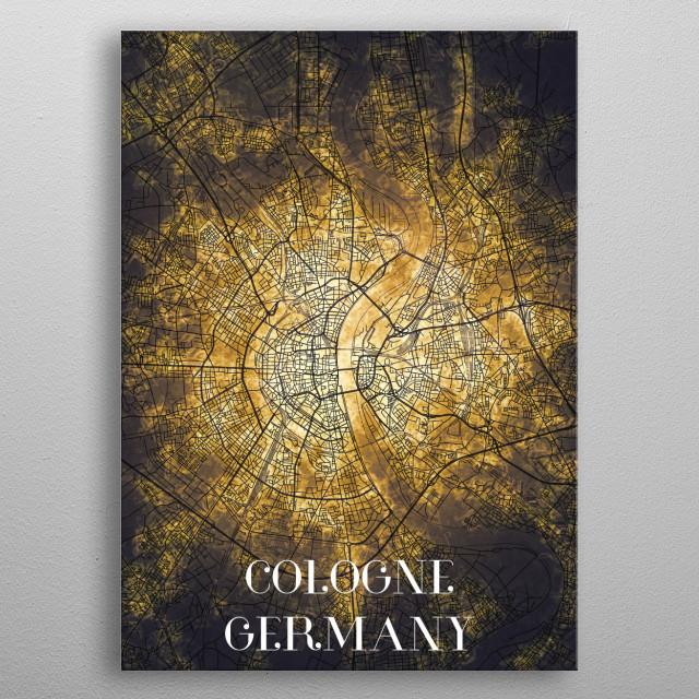 Cologne Germany metal poster