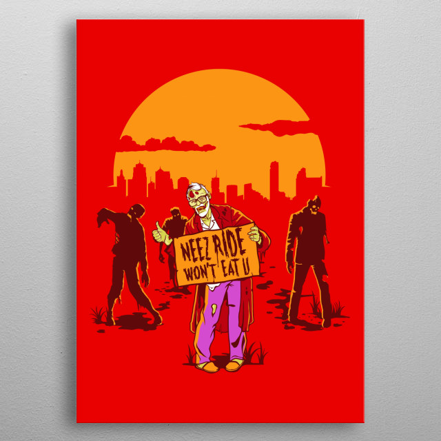 Zombies are coming! metal poster