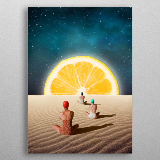 Fascinating metal poster designed by Urban WallArts. Displate has a unique signature and hologram on the back to add authenticity to each design. metal poster
