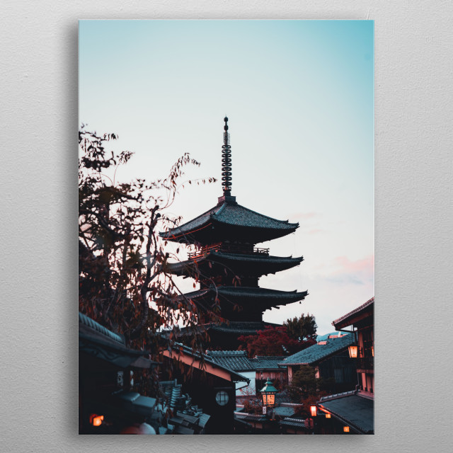 5 Storey Pagoda in Kyoto, Japan metal poster