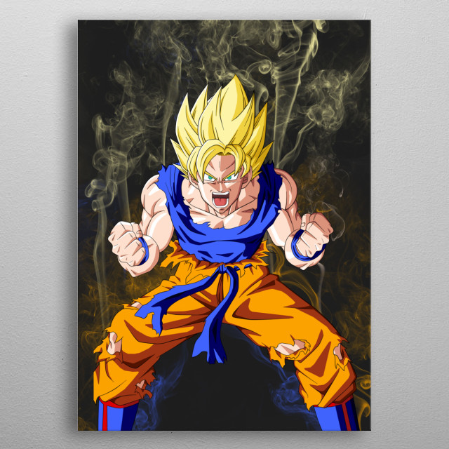 The on and only king, GOKU! metal poster