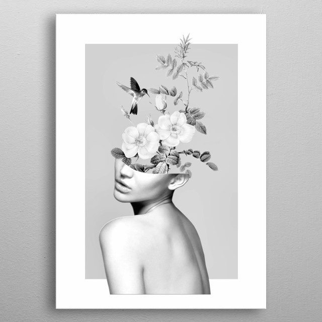 Floral beauty 2 metal poster