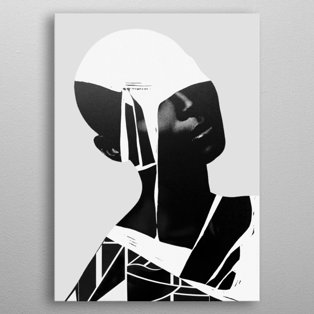 abstract portrait metal poster