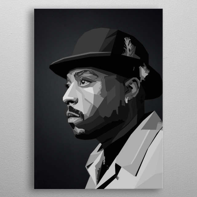 Nate Dogg Rapper HIPHOP WPAP Pop Art metal poster