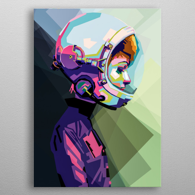 a fantasy woman potrait.colorful emotions series. metal poster