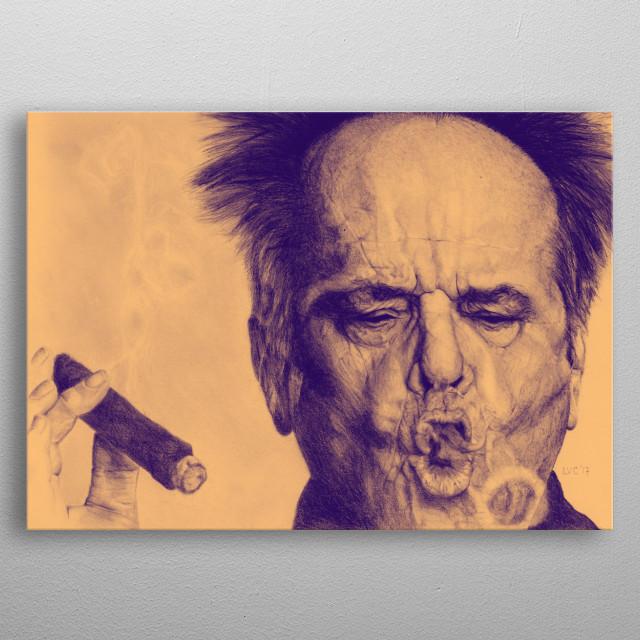 Illustration inspired in Jack Nicholson metal poster
