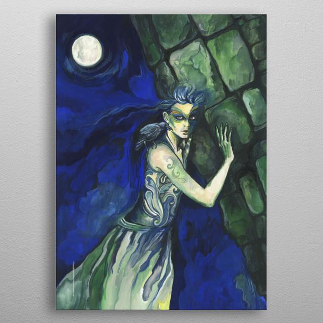 Fantasy Art illustration. Original available.  Copyright © Fanitsa Petrou. All Rights Reserved.  metal poster