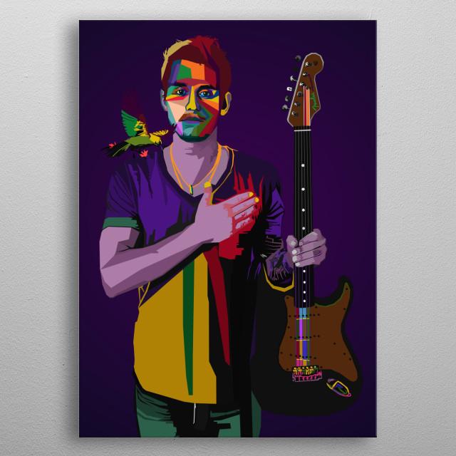John Mayer Rocker Music WPAP Pop Art  metal poster