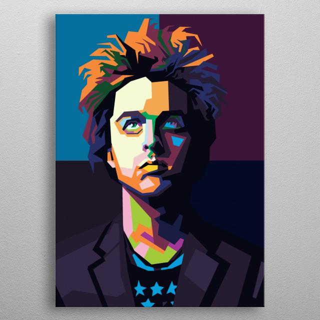 Billie joe armstrong in style wpap pop art. metal poster