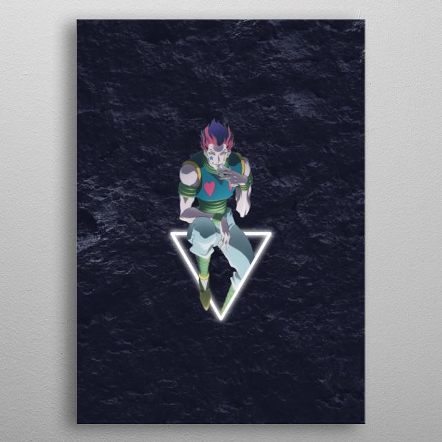 An artwork featuring Hisoka, the main antagonist in HunnterXHunter. metal poster