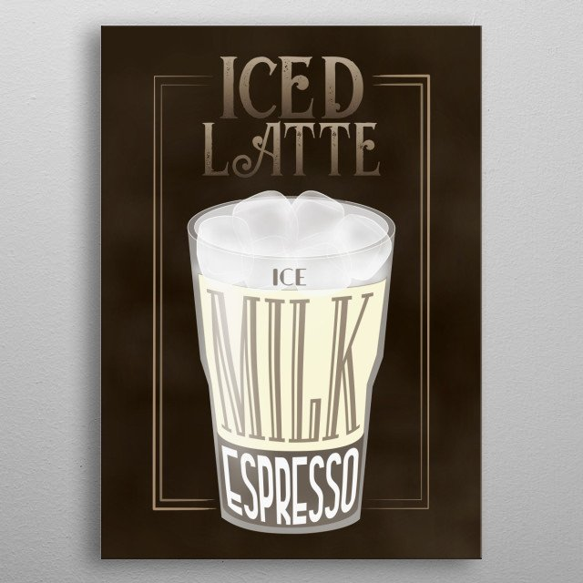 Coffee Sign - Perfect Displate Metal Wall Art for Coffee Shops Bars Restaurants and Kitchen metal poster
