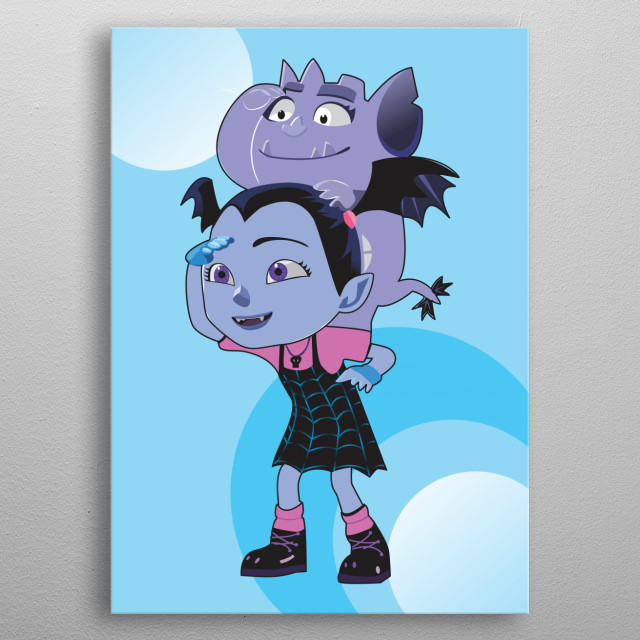 Vampirina is a computer-animated Halloween fantasy musical children's television series that premiered on Disney Junior on October 1, 2017 metal poster