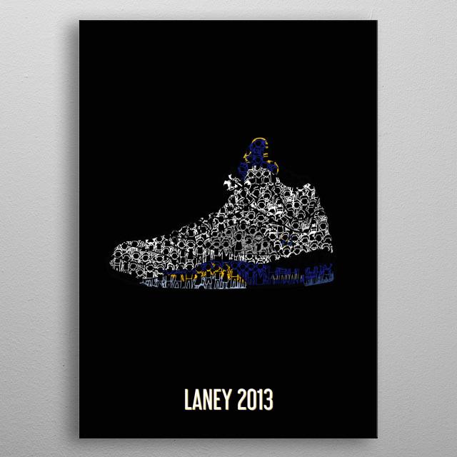 """Jordan 5 Retro """"Laney 2013"""" metal poster"""