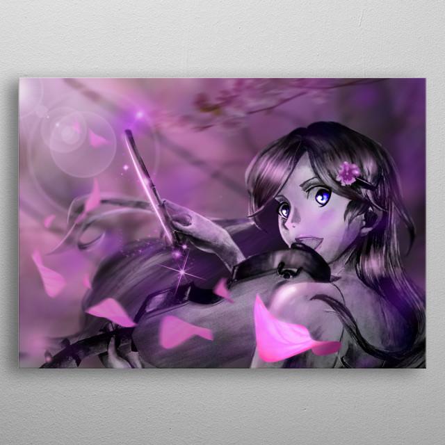 Kaori Miyazono fromo shigatsu wa kimi no uso made in photoshop. metal poster