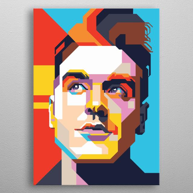 Morrissey in WPAP Art metal poster