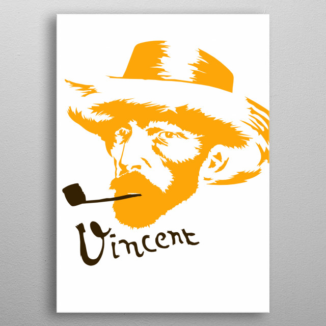 One of the greatest artists of the past 200 years, Van Gogh came late to painting.  metal poster