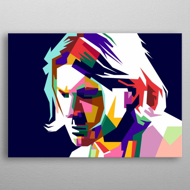 Kurt Cobain Design Illustration Wpap Style metal poster