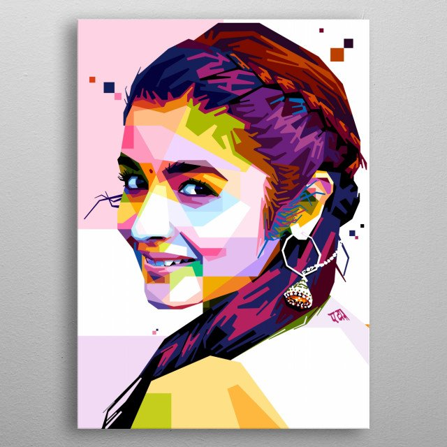 Poster of Alia Bhatt. Alia Bhatt is an actress and singer of Indian origin and British citizenship, who works in Hindi films. metal poster