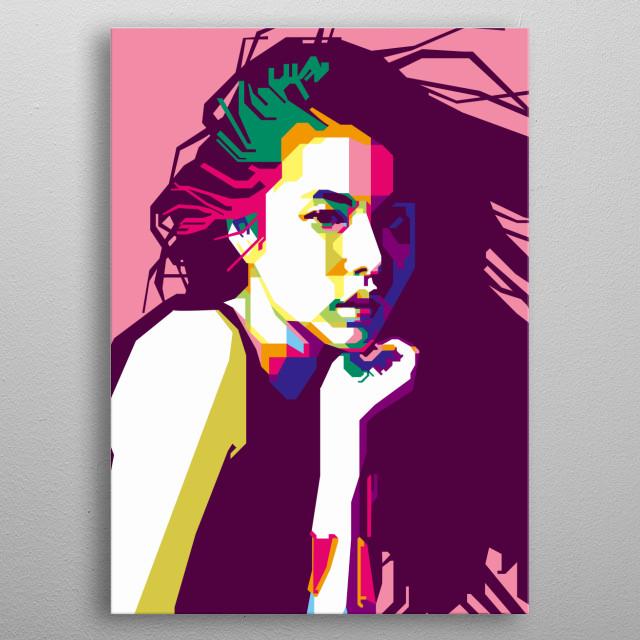 Min Hyorin in WPAP Art metal poster