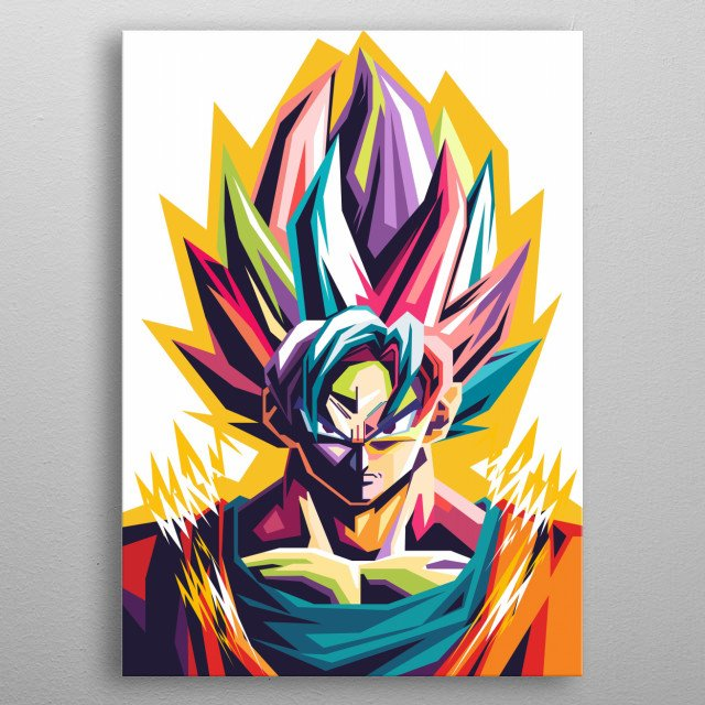 Goku is the main character in the Dragon Ball story. Goku who owns this tail is a Saiya, although he did not know it until Raditz told his c metal poster
