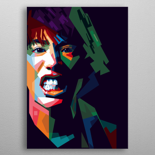 Taka in WPAP Style metal poster