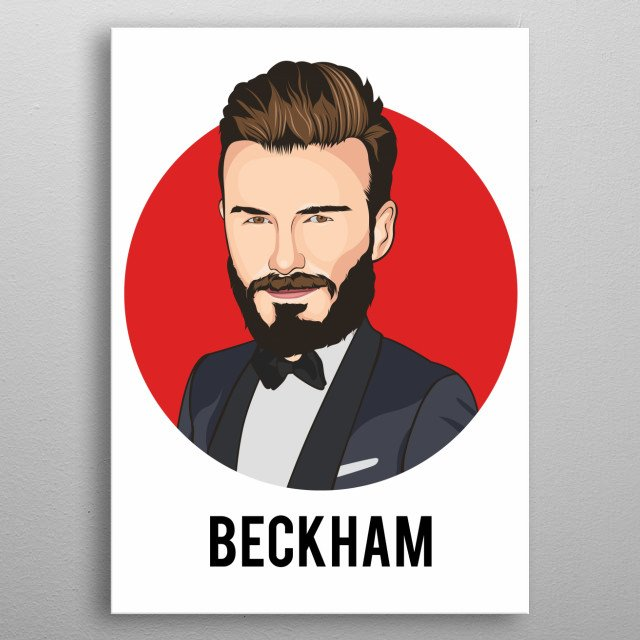 david beckham is an English retired professional footballer and current President of Inter Miami CF. metal poster