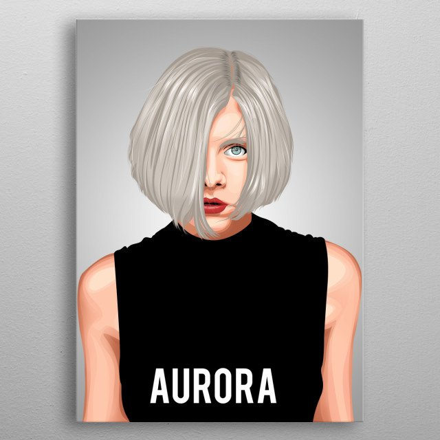 aurora  is a Norwegian singer-songwriter and producer. metal poster