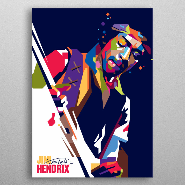 James Marshall Hendrix (born Johnny Allen Hendrix; November 27, 1942 – September 18, 1970) was an American rock guitarist, singer,         ... metal poster